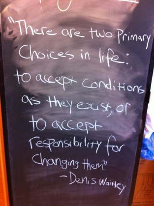 Accept Conditions or Change Them
